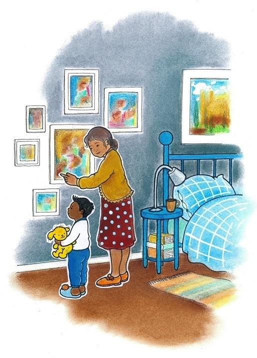 Illustratie bij verhaaltje heimwee uit Bento en Alba, een asiel voor kinderen